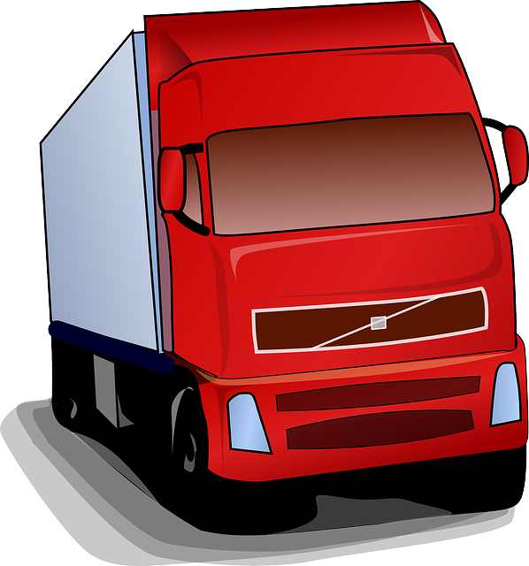 ilustrace kamionu