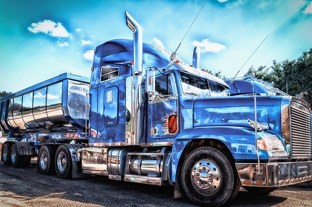 ozdobený kamion